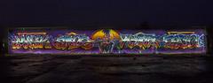 Night Lazer Disco (masko149) Tags: disco night graffiti soligorsk prodaction zadelo 149 mask masko maskone mazzz amos omas kram mark white whiteone fedo light exposure wall mtn94