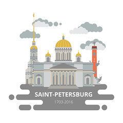 Saint-Petersburg flat cityscape. Vector set for travel infographics. Use this vector illustration for design your website or publications. (graficaprint) Tags: petersburg flat city cityscape sanktpeterburg peterburg saint st saintpeterburg saintpetersburg bronze horseman rostral column peterandpaul fortress peter great isaac cathedral kazan set vector background color icon illustration abstract black dark light bright banner backdrop design isolated russia landmark travel symbol building monument graphic tourism infographic sign concept modern map business