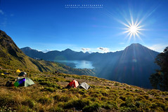 Sembalun Basecamp (azrudin) Tags: mountain mountrinjani vacation volcano crater lake bluesky rinjani campsite summit