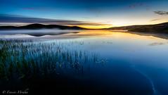Loch Kirbister (Francis Mridha) Tags: lochofkirbister clouds fog francismridhaphotography landscape loch longexposure mist nightphotography nikon orkney orkneyislands reflection scotland travel water