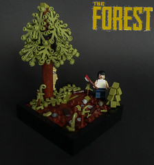 "[MOC] The Forest- ""Survival"" (KevFett2011) Tags: kevfett2011 moc my own creation 2016 the forest survival game steam pc small vignette tree landscape cannibal player wood afol tfol ids imperium der steine"