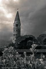 Caorle #3 (filippi antonio) Tags: caorle veneto italy italia biancoenero blackandwhite paesaggio paesaggiourbano cityscape citt city campanile belltower chiesa church cielo sky nuvole clouds temporale storm