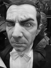 #kevinspacey should consider a role as #Dracula. (kennethkonica) Tags: horrorhound classichorror dracula frankensteinsmonster boriskarloff belalugosi maskfest mask vampire faces halloween horror global culture random hoosier canonpowershot canon usa america midwest indiana indianapolis indy festival fun indoor bowtie eyebrows eyes