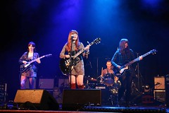 The Velveteens (Maria Spadafora (@BloodyNoraDJ)) Tags: morleyliteraturefestival morleytownhall morley morleyartsfestival morleyartsfest maf2016 festival stagelighting gigphotography theweddingpresent thevelveteens guitars guitar drums bass gigs gig performance band