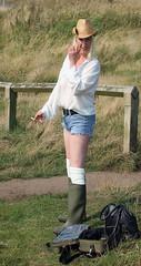 The Shoot That Never Happened (team stalker) Tags: sexy woman milf stockings pvc shiny panties sexylegs blonde fishnets boots satin carp fishing lake carpie
