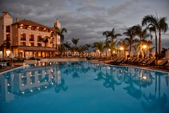 Poolside (Nige H (Thanks for 6.5m views)) Tags: swimmingpool pool hotel costaadejegranhotel costaadeje tenerife reflection eveninglight