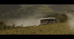 On the road 3 (Kaip Kine) Tags: alaska denali usa bus kantishna road dust cinematic cinemascope canon 5dmarkiii 100400mm off meadow widescreen frame