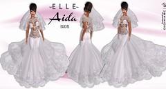 -E L L E- Aida Bridal - Ad (AdelleBelle) Tags: elle mesh body applier omega tmp belleza slink maitreya formal elegant evening dress long