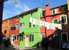 Colourful Burano, a street (Nada BN) Tags: burano lagunadivenezia italy