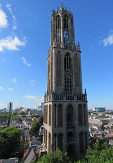The Dom tower, Utrecht, seen from the roof of the Dom church (Elisa1880) Tags: dom church utrecht domkerk domtoren tower