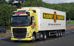 McBurney Transport Volvo FH N111MCB on the A90, Dundee, 25/9/16 (andyflyer) Tags: mcburneytransport mcburney volvofh n111mcb truck lorry hgv roadtransport haulage a90
