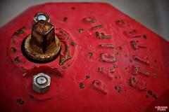 Pacific States (MBates Foto) Tags: firehydrant color stilllife red rust minimalist depthoffield vividcolor nikon nikond810 nikon24120mm daylight availablelight textures spokane washington unitedstates 99203