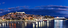 Majestic city panorama (Mavroudakis Fotis) Tags: symbol past early nature island city sky evening vacation mountain house holiday sea medieval antique historic beauty harbor europe typical traditional culture path tourism travel old panorama village europa ancient fort history light outdoor home place morning coastline water urban night town abstract seaside cityscape buildings historical landmark river landscape coast mountains beach destination abandoned accommodation riviera photography background dusk pirates twilight greece kavala mediterranean aegean