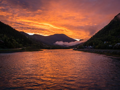 Fiery sky (PixPep) Tags: otta norway norge landscape sunset red fiery sky pixpep nature glow