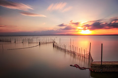 Epic world (Anto Camacho) Tags: albufera valencia valenciancommunity waterscape longexposure bigstopper landscape clouds saler water lake caas sunset down sun