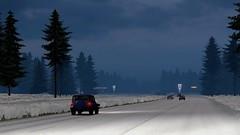 Kenworth W900 in a blizzard (atsworld) Tags: kenworth american truck simulator w900 americantrucksimulator snow blizzard storm ats