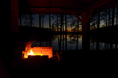 Sunset and a bonfire at lake Valkjrvi (Villikko) Tags: night evening ilta y bonfire nuotio fire tuli sunset auringonlasku lake jrvi valkjrvi