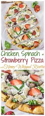 Chicken, Spinach & S (alaridesign) Tags: chicken spinach strawberry pizza {with honey whipped ricotta}