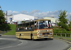 Not too far from its original home. (Renown) Tags: bus coach singledecker leyland leopard duple dominant jpo55p eassons preserved preservation heritage restored isleofwight beerbuses 2016 runningday rally