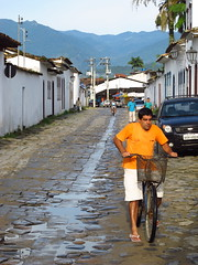 Paraty - Second Day #44 (escailler arthur) Tags: street old people wet water rio brasil paraty photography parati brsil skylife vancayzeele