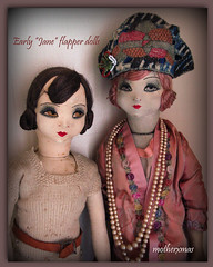 jane dolls suede French boudoir dolls (motherxmas2003) Tags: 1920s french bed dolls jane boudoir flapper deco rare suede aap