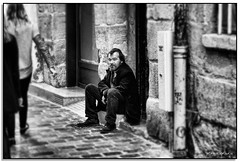 Not Always Black and White (fotografdude) Tags: blackandwhite paris abandoned alone sad invisible sony homeless problem doorway society rx100 fotografdude
