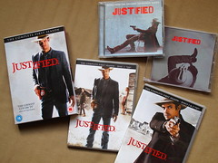 Justified Season One DVD boxset & Audio CDs (Jay Tilston) Tags: music season 1 dvd cd first boxset justified