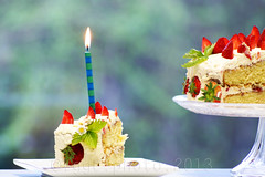 I kept this one... (Gregoria Gregoriou Crowe) Tags: birthday ireland food cake horizontal closeup candle text celebration birthdaycake tipperary foodanddrink indulgence freshness colourimage blurbackground