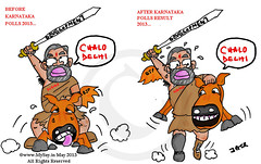 bjp after karnataka polls (www.MySay.in) Tags: cartoon modi bjap