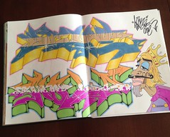 King of NOLA (Sinc206) Tags: old school graffiti stickers style prismacolor copic blackbook wildstyle throwie postals piecebook