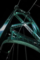 Lions Gate Tower (insomniac199) Tags: nightphotography bridge vancouver gate long britishcolumbia lions exposures