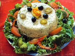 Rice salad with vegetables (Jawaher Oum Ibrahim) Tags: salad rice eggs tuna caroots
