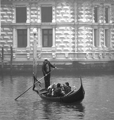 Grand Canal Gondola - Black and White - Venice (Gilli8888) Tags: venice blackandwhite italy architecture buildings boat canal gondola grandcanal gondolier