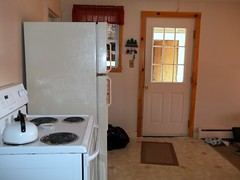 The Kitchen. (dccradio) Tags: door house ny newyork home window fridge rooms oven upstateny mat stove refrigerator teakettle constable northernnewyork
