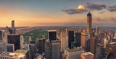 Central Park (Fil.ippo) Tags: travel sunset newyork skyline nikon tramonto cityscape centralpark rockefellercenter photomerge hdr filippo topoftherock d5000 filippobianchi