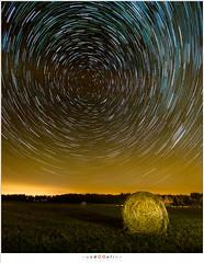 Spinning circles (nandOOnline) Tags: light night stars vakantie nacht circles pollution zomer hay luxembourg bale luxemburg kamperen 2016 sterren startrail cirkels lichtvervuiling mullerthall sterrensporen hooibaal