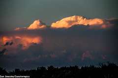 Distant Storms (Dan's Storm Photos & Photography) Tags: sky nature weather clouds skyscape landscape landscapes top cumulus thunderstorm skyscapes convection upperpenninsula anvil thunderstorms thunderhead cumulonimbus updraft thundershower anvils updrafts overshooting upofmichigan thunderstormbase