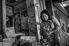 (feldmanrick) Tags: streetphotography street oakland chinatown woman outdoor candid unposed monochrome bw blackandwhite decisivemoment