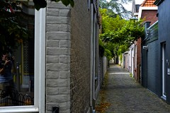 back streets Alkmaar (MarkVisser1990) Tags: collor streetphotography reflection green alkmaar holland fuji xf35mm f2