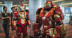 Animangaki 2016 - Ironman and his pet Iron Gorilla (EightyFiveSen) Tags: animangaki2016 ironman event cosplay hulkbuster suit sunwaypyramid cosplayer costume