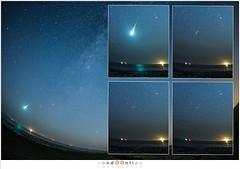 Vuurbal en het langaanhoudend spoor (nandOOnline) Tags: ster friesland nacht perseus meteoriet sterrenbeeld moddergat wad perseiden persistenttrain waddenzee sterrenregen zee vallendesterren meteoor wadden donker meteorieten langaanhoudendspoor meteoren nederland