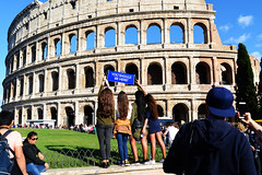 I Am... Was (Smith-Bob) Tags: people candid street woman women rome roma italy italia europe colosseum icon history attraction tourist bloody romans empire man men dude dudes tourists