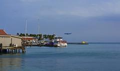 Oranjestad, Aruba.View. (ost_jean) Tags: oranjestad aruba view sea helikopter vliegtuig ostjean nikon d5200 afs dx nikkor 35mm f18g water caribbean
