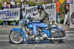 Hog Rider (swong95765) Tags: harley hog motorcycle rider protest bike harleydavidson motorbike man helmet tonemapped