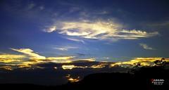 Golden Light of Setting Sun (caren (Thanks for 1 Million+ views)) Tags: goldenlight gold blue sunset welshsunset sonnenunterganginwales sonnenuntergang wales cymru westwales ceredigion sky sun nature landscape
