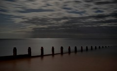 Felpham by Moonlight (hall1705) Tags: moonlight felphambymoonlight felpham beach sea seascape seaside groyne breakwater water westsussex d3200 night longexposure le clouds movement fullmoon