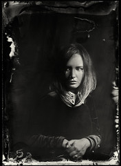 Anna (anton_park) Tags: ambrotype alternativeprocess wetplatecollodion fkd industar5145210 largeformat monochrome bw blackandwhite portrait girl analog noiretblanc contrast people sepia 13x18 5x7 vintage face hands