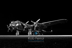 4946_Lancaster (Rob Ferrol) Tags: lancaster bomber aircraft historic iconic heavy wwii world war two royal air force raf command east kirkby lincolnshire airfield night moody atmospheric evening dusk rob ferrol copyright photographer worksop notts nottinghamshire merlin engines four restoration period bird