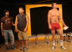 ChicosHo 020 (danimaniacs) Tags: shirtless man sexy hot hunk alexkaesejones chicosangels peterrison red shorts bulge