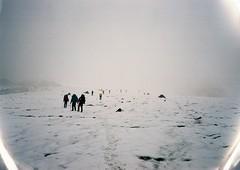 (Nikolay Kulivets) Tags: 35mm film olympusmjuii mjuii kodak georgia snow ice glacier caucasus kazbek alpinism landscape fog clouds mountain people